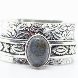 Jewelry - Labradorite Spinner Ring 925 Sterling Silver